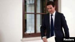 조지 오스본 영국 재무장관이 27일 유럽연합 탈퇴와 관련해 기자회견을 가졌다.
