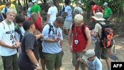 26个国家的童子军在美国维吉尼亚州欢庆童军百年