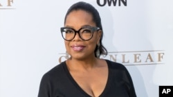 "FILE - Oprah Winfrey arrives at the season one premiere of ""Greenleaf"" at The Lot on June 16, 2016 in West Hollywood, California."