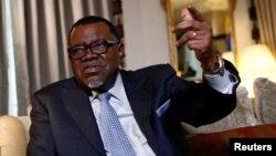 Le président namibien Hage Geingob, à Londres, en Grande-Bretagne, le 1er décembre 2016. REUTERS / Stefan Wermuth