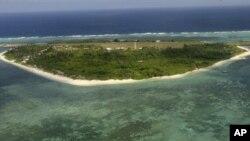 Một hòn đảo trong dãy đảo tranh chấp nằm ngoài khơi phía tây của Philippines