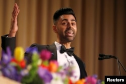 Hasan Minhaj of Comedy Central performs at the White House Correspondents' Association dinner in Washington, April 29, 2017.