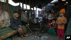 逃到中國雲南省的緬甸克欽人(資料圖片)