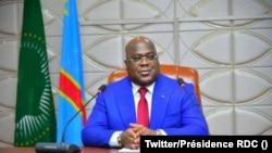 Président Félix Tshisekedi à son bureau, Kinshasa, 23 octobre 2020. (Twitter/Présidence RDC)