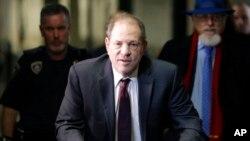 Harvey Weinstein avant son procès à New York, le 20 février 2020. Il a été condamné le 11 mars à 23 ans de prison pour viol et agression sexuelle. (Photo AP/Seth Wenig)