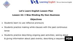 Lesson Plan - Lesson 42