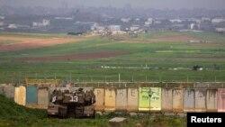 Tank Israel disiagakan di utara Jalur Gaza (13/3).