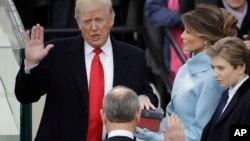 美国新总统唐纳德·川普星期五宣誓就职,并发表就职演说