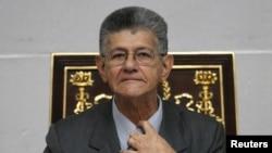 """El bloque opositor liderado por Henry Ramos Allup, aduce que una sentencia del Tribunal Supremo de Justicia (TSJ), que anuló facultades de control legislativo, ha generado una """"alteración del orden constitucional que afecta gravemente la democracia""""."""