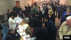 지난 2016년 2월 미국 아이오와주 웨스트디모인에서 민주당 예비선거인 코커스가 열렸다.