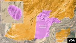 اس نقشے میں افغان صوبے قندھار کے علاقے میوند کو دکھایا گیا ہے۔