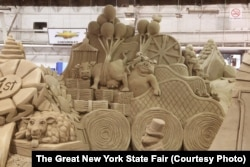 A sand sculpture at the New York State Fair.