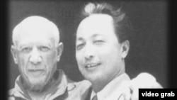 1956年 张仃与抽象派大师毕加索