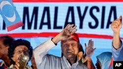 Cựu Thủ tướng Malaysia Mahathir Mohamad vận động tranh cử tại Kuala Lumpur hôm 6/5/2018.