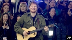 FILE - Ed Sheeran performs on The Today Show in New York City.