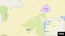 敘利亞阿勒頗位置圖