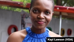 Abra Ténu Lawani, promotrice du marché du paysan à Lomé, Togo, le 6 juillet 2019. (VOA/Kayi Lawson)