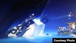 香港海难几十人丧生-香港电视画面截屏