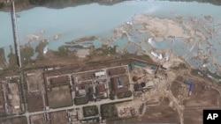 북한 영변 핵 시설의 위성사진. 지난 2012년 4월 촬영한 것이다. (자료사진)