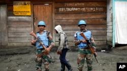 Capacetes azuis em Goma