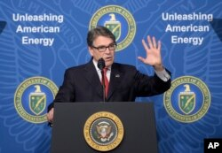 U.S. Energy Secretary Rick Perry speaks at the Department of Energy in Washington, June 29, 2017.