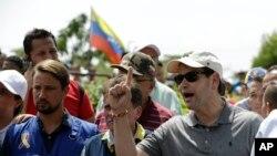 El senador Marco Rubio, atento a la situación de los venezolanos, visitó en febrero el área donde se guardan los suministros médicos, medicamentos y ayuda humanitaria para Venezuela.