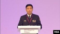 孙建国上将称南中国海建设是为了履行国际义务(美国之音黎堡拍摄)