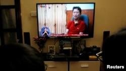 Ông Trịnh Xuân Thanh xuất hiện trên truyền hình VTV tối ngày 3/8/2017.