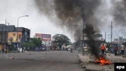 Manifestations à Kinshasa, RDC, 19 janvier 2015.