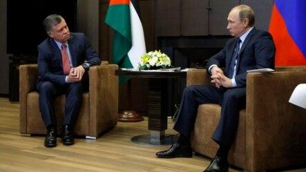 Tổng thống Nga Vladimir Putin gặp Quốc vương Abdullah đệ nhị của Jordan ở Sochi, Nga, ngày 24/11/2015.