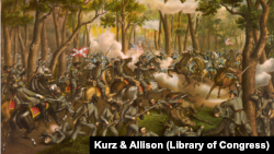 """Battle of the Wilderness"" by Kurz & Allison (Library of Congress)"