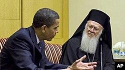 奥巴马今年4月在伊斯坦布尔会晤巴塞洛缪
