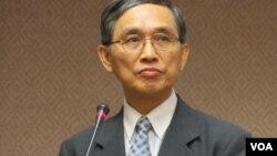 台湾经济部长 施颜祥(美国之音张永泰拍摄)