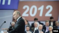 Perdana Menteri Russia Vladimir Putin yakin akan memenangkan pemilu presiden Rusia 2012 (Foto: dok).