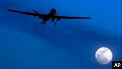 지난 2010년 1월 아프가니스탄에서 야간 작전 중인 미군 무인기 (자료사진)