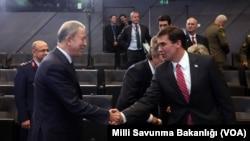 Встреча министров обороны США и Турции в Брюсселе