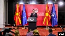 Premijer Makedonije Zoran Zaev objavljuje dogovor parlamentarnih stranaka da vanredni izbori budu održani 12. aprila 2020.