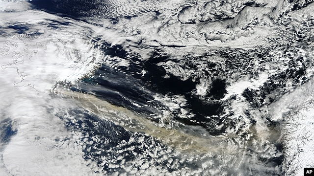 Iceland's Eyjafjallajökull Volcano sent a plume of ash and steam across the North Atlantic, 15 Apr 2010