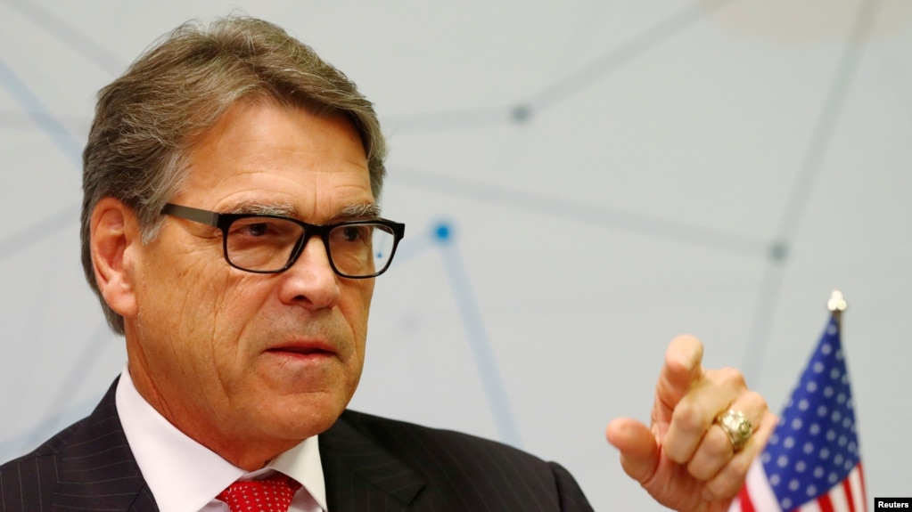 Bộ trưởng Năng lượng Mỹ Rick Perry.
