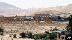 تصویری از شهر تاریخی پالمیرا، میراث امپراتوری روم باستان در سوریه