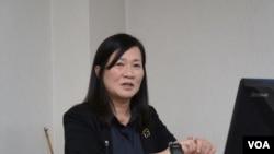 早稻田大學教授植木千可子 (美國之音特約記者 歌籃拍攝)