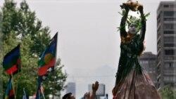 سالروز ورود کريستف کلمب به سرزمين آمريکا و راهپیمایی سرخپوستان مقيم شيلی