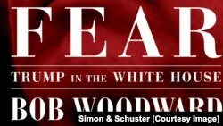 "La page de couverture du livre ""Fear: Trump in the White House"", de Bob Woodward."