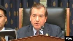美國國會眾議院外交委員會主席共和黨人羅伊斯(視頻截圖)