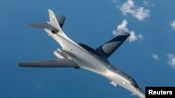 美國空軍B-1B超音速轟炸機。