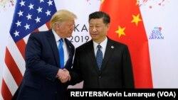 美国总统特朗普和中国国家主席习近平2019年6月29日在大阪会晤。
