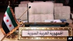 مخالفین اسد از سوریه در اتحادیه عرب نمایندگی می کنند