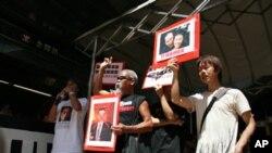 香港民众抗议李克强访港