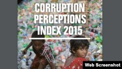 """International Transparency released a corruption perceptions in 2015, claiming that """"not one single country, anywhere in the world, is corruption-free."""" (Screenshot from International Transparency)"""
