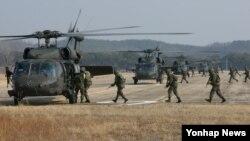 31일 미한연합공중강습훈련을 실시한 육군 제2작전사령부와 주한미군 2사단.